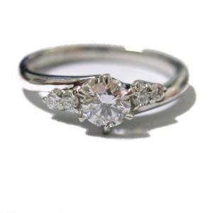 ダイヤモンド 0.205キャラット リング作成