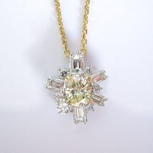 K18/Pt900 ダイヤモンド ペンダント 作成